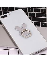Women Rabbit Shape Phone Holder Phone Ring Buckle (Silver)