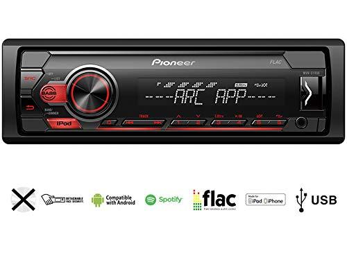 Pioneer-MVH-S110UI-1-DIN-Autoradio-mit-USB-AUX-Shortbody-fr-FIAT-Grande-Punto-199-2005-2010-anthrazit-metallic