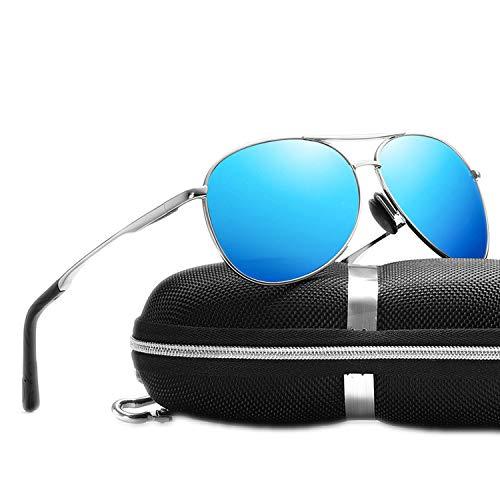 It's-ok Polarisierte Herren-Sonnenbrille, klassisch, mit Metallrahmen, Spiegelgläser, Schwarz