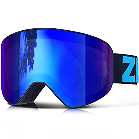 ZIONOR Lagopus X9 Snowboard Ski Goggles with Cylindrical Lens Anti-fog