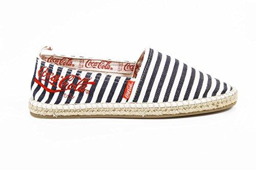 espadrilles uomo Coca Cola mens espadrillas cc06102b juta classic blue-white -- 45 eur - 12 us