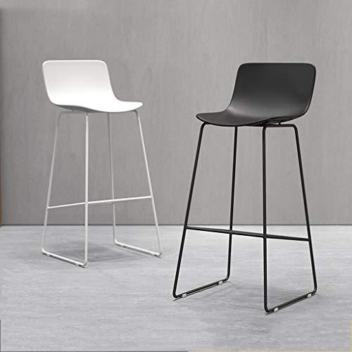 XIANWEI Barhocker, Schmiedeeisen Barhocker, Home High Stool, Frühstücksrestaurant Hocker, Lounge Chair, 65/70 / 75cm (Color : White+Gold, Size : 65cm) -