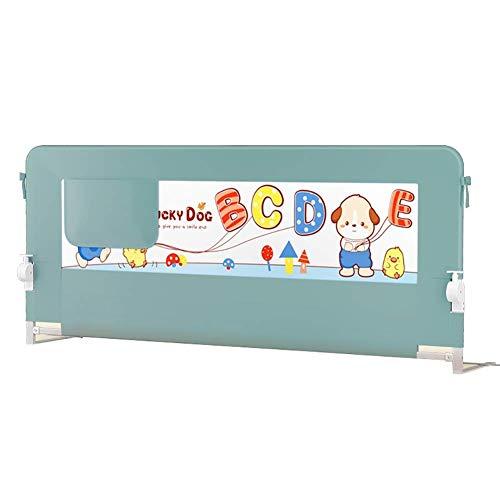 XUE Abklappbarer Bettgitterschutz für Kleinkinder, Langer Einzelbettlauf mit verstärktem Ankersicherungssystem, höhenverstellbar,180x75cm - Nachricht Matratze