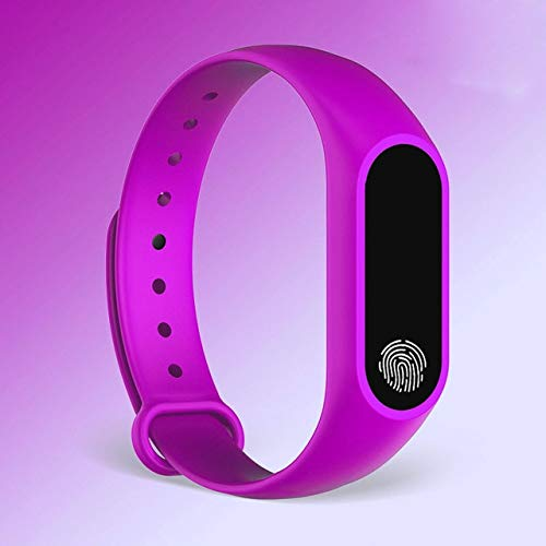 XYQY M2 Smart Watch Band Messges Erinnerung Bluetooth Smart Armband Fitness Sleep Tracker Armband für Android IOS Telefon pk m2 purpurn