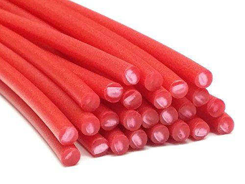 Plastique baguettes de soudure PE-HD Rouge (RAL3020) 4mm Ronde 25 Barres HDPE