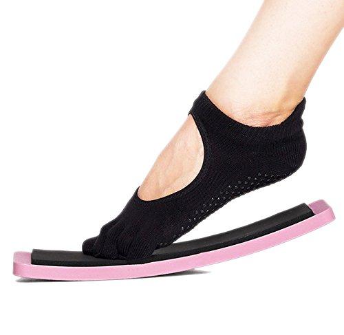 yuzlder Ballett Pirouette Drehen Board, Dance Pirouette Board mit Premium Samt bag-improve Balance und dreht sich, Training üben Werkzeug (Rosa) Ballett Drehen