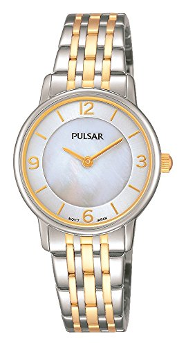 Pulsar Womens Quartz Watch, Analogue Classic Display and Stainless Steel Strap PRW027X1