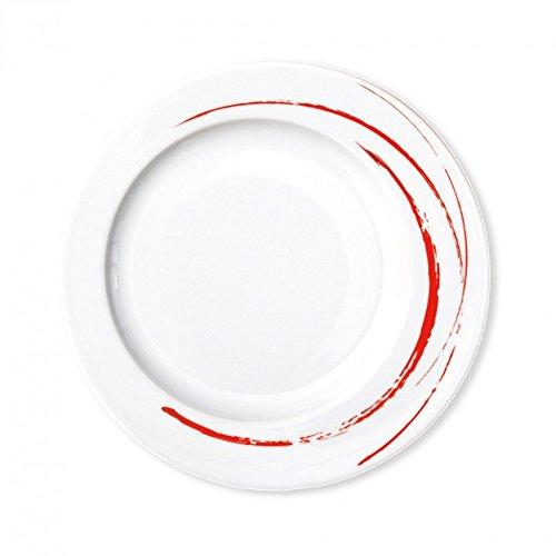 Bruno Evrard Création - Assiettes à dessert 23 cm - lot de 6 - GOUSTO Rouge