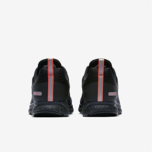 Nike Herren Air Zoom Pegasus 34 Shield Laufschuhe schwarz-schwarz-apricot