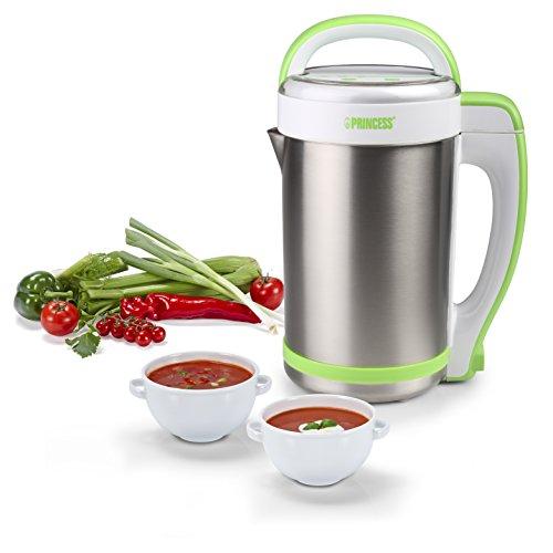 Princess 212040 - Licuadora eléctrica y máquina para hacer sopa, batidos o salsas, capacidad de 1.3...