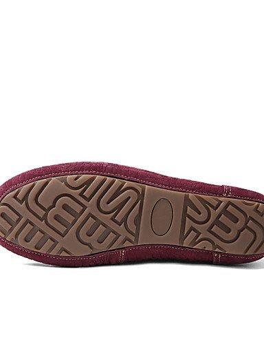ShangYi Damenschuhe - Bootsschuhe - Büro / Lässig / Party & Festivität - Wildleder - Flacher Absatz - Komfort / Boot - Braun / Rot Red