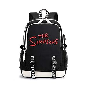 41ITngp9IrL. SS300  - The Simpsons Casual Mochilas Escolares para Mujeres y Hombres Popular Mochila de Viaje Moda Mochila para Deportes al Aire Libre Mochila para Portátiles Ordenador Portátil