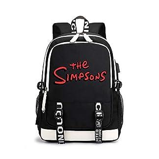 The Simpsons Casual Mochilas Escolares para Mujeres y Hombres Popular Mochila de Viaje Moda Mochila para Deportes al Aire Libre Mochila para Portátiles Ordenador Portátil