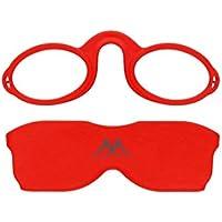 Blue Badge resistenza, 1 rosso Montana Ready to Wear-Occhiali da lettura con custodia imbottita, motivo farfalle, colore: rosa