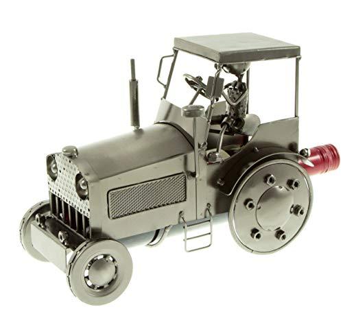 edler Flaschenhalter aus Metall Flaschenständer Traktor