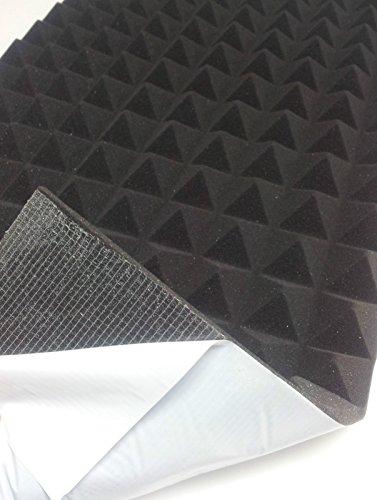 pannello fonoassorbente insonorizzazione acustico piramidale adesivo 99x49x 4 cm colore antracite densita 30 autoadesivo