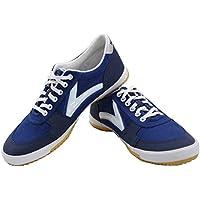 DOUBLESTAR MR Classic Men Court Trainers Lightweight Squash Shoe Canvas Trainers