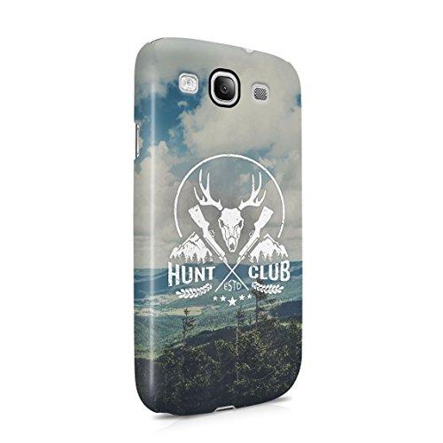 Deer Hunt Club Forest Wildlife Animal Hunt Dünne Rückschale aus Hartplastik für Samsung Galaxy S3 Handy Hülle Schutzhülle Slim Fit Case Cover - Samsung Galaxy Deer Handy Case S3