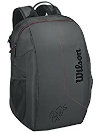 WILSON Fed Team Backpack BKRD, Mochila Unisex Adulto, Negro (Black/Red)