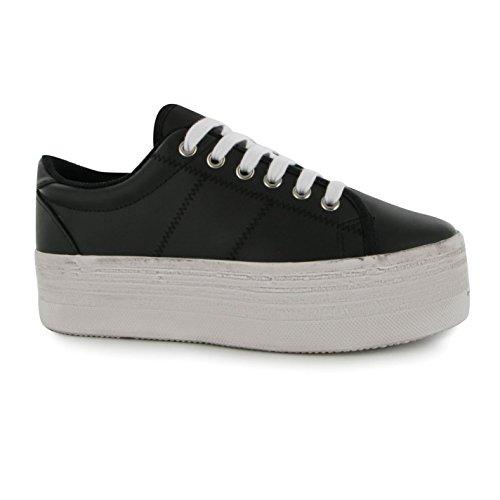 Jeffrey Campbell Play piattaforma scarpe scarpe da ginnastica da donna nero/bianco, Black/White, (UK8)
