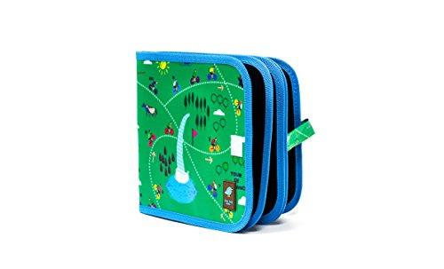Preisvergleich Produktbild Jaq Jaq Bird, Inovatives Kinder Kreide Malbuch, zum Malen und Zeichen auf Reisen und Zuhause, 8 Seiten, abwischbar und wiederverwendbar, inkl 4 Kreidestifte, 20 x 20 cm, Fahrrad