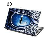 "TaylorHe 156-20leather - Skin adhesivo para portátiles de 15,6"" (vinilo), diseño de ojo de dragón"