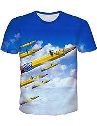 Uideazone Unisexe 3d impression drôle manches courtes Mens T-shirts Multicolore UK S-L
