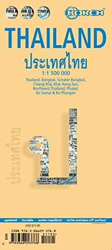 Borsch map Thailand 1 / 1 500 000