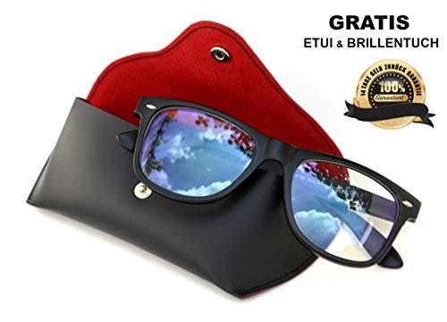 SIAH Jetzt Blaulichtfilter Brille Vintage holen - Schutz vor PC Fernseher und Handy Bildschirmen - Steigere Deine Lebensqualität