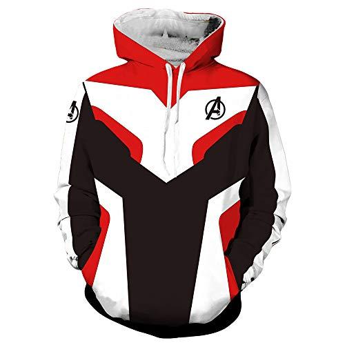 RHGZ Boy Hoodie Pullover Hero Battle Suit Avengers Endgame-Jersey mit Tunnelzug und Langen Hosen Cosplay Kostüme Quantum Realm Clothing (Kid Hero Kostüm)