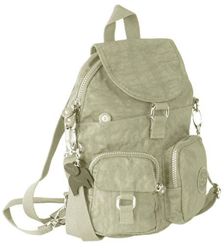 Big Handbag Shop Multi Tasche con cerniera antipioggia unisex unico backpack1 Ash Grey