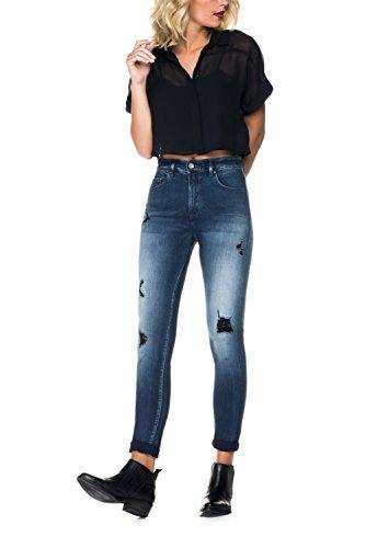 Salsa - Jeans Carrie délavage premium, jambe skinny - Femme Bleu