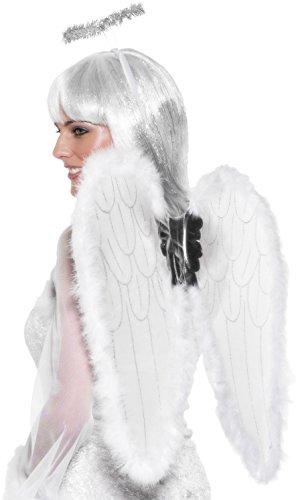Smiffys 23054 - Engel Set weiß Wings und -