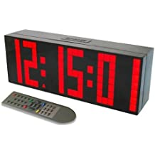 Despertador Reloj Grande de LED Cuenta reloj de pared temporizador Reloj LED Digital / Cuenta atrás / adelante Reloj con control remoto