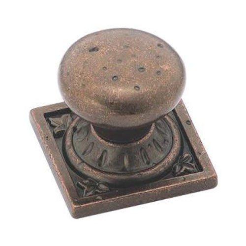 Amerock 1.25 (Amerock bp4484rbz Ambrosia Euro Stein Quadratisch Knauf, rustikalem Bronze, 1-1/4-Zoll von Amerock)