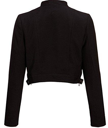 Kurze Damen Jacke Bolero in schwarz Schwarz