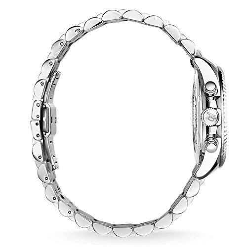 Thomas Sabo Damen Armbanduhr Chronograph Quarz Edelstahl WA0253-201-201-38 mm