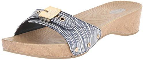 Dr. Scholl's Classic Synthétique Sandales Compensés Navy Stripe