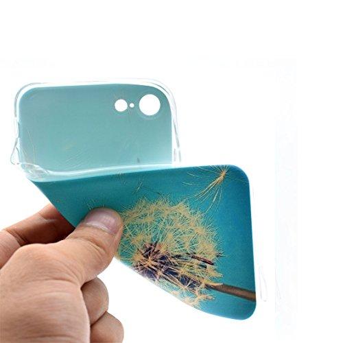 iPhone 7 Plus Custodia, Silicone TPU trasparente Indietro Case iPhone 7 Plus copertura (2016), Lightweight Soft Cover Prova di polvere ( dipinto Cartoon Totem elegante ) # 8