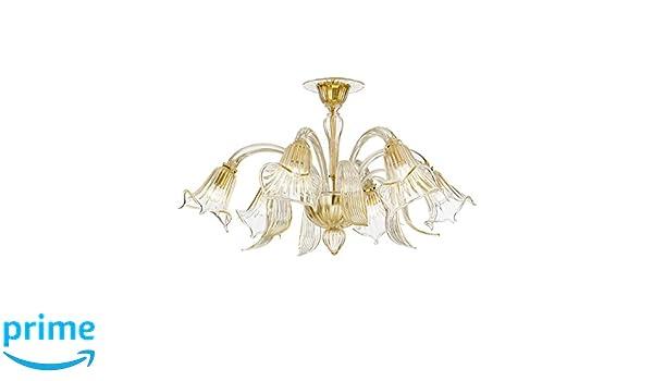 Plafoniere Vetro Murano Prezzi : Rossini illuminazione floral plafoniera vetro di murano e w
