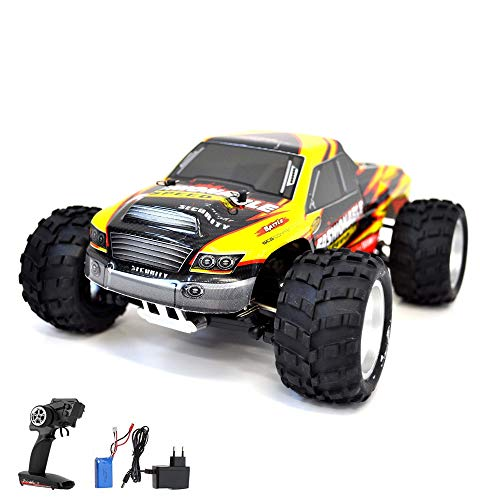 1:18 RC Modellauto ferngesteuerter Monsterbuggy Truck Truggy, 2.4GHz Digital vollproportionale Steuerung ,4WD Allradantrieb für jedes Gelände, Komplett-Set - Monster-lkw-spielzeug Mädchen,