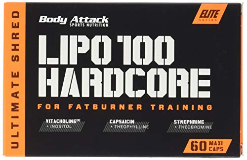 Body Attack Lipo 100 Hardcore, 1er Pack (1 x 60 Kapseln) -
