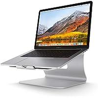 Bestand TI-Station soporte, Laptop stand de refrigeración , Soporte diseñado para Apple MacBook / ordenadores portátiles, hecho de aleación de aluminio de alta calidad, Plata (Patentado)