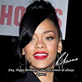 Rihanna 2 Personalised Gift Print Mouse Mat Autograph Computer Rest Mouse Mat Compatible with Laser and Optical Mice (No Personalised Message)