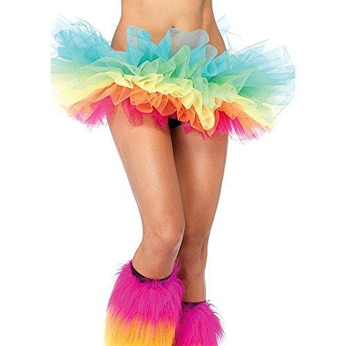 Zuckersüßes Mini-Tutu in Regenbogenfarben Gr. (Kostüme In Halloween Der Öffentlichkeit)