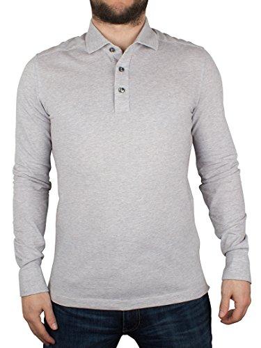 Gant Uomo Camicia Oxford maniche lunghe Pique Rugger Logo Polo, Grigio, Medium