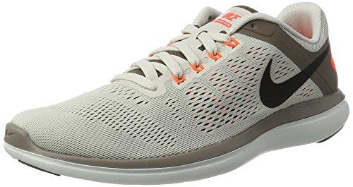 Nike Flex 2016 RN, Chaussures de Course Homme Beige (Lt Bone/black/dk Mushroom/hyper Orange/off White)