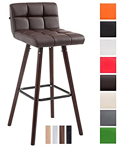CLP Barstool LINCOLN V2 quilted with faux leather covers, beech