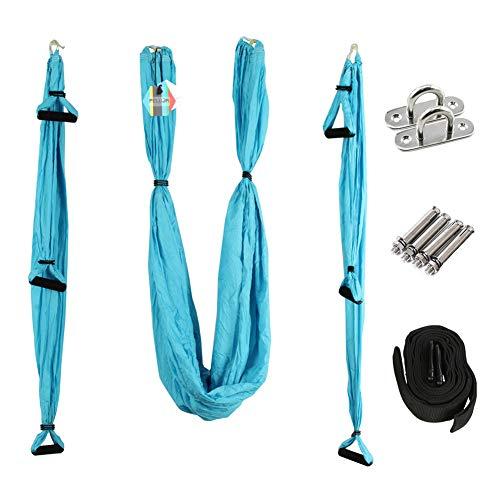 PELLOR Aerial Yoga Hängematte Set, Elastische Tuch Sling Swing Vertikaltuch Yogatuch Hammock Fitness für Pilates Gymnastik