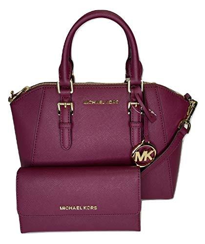 Michael Kors Ciara MD Umhängetasche Jet Set Reisetasche, groß, dreifach faltbar, Magenta